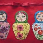 Russian matrioshka, hand painted to..
